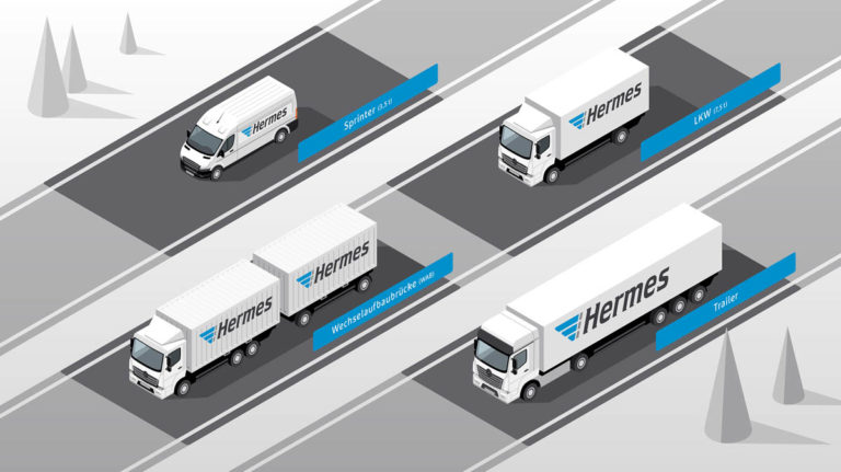 Eat Sleep Design Hermes Versand Prozessgrafiken